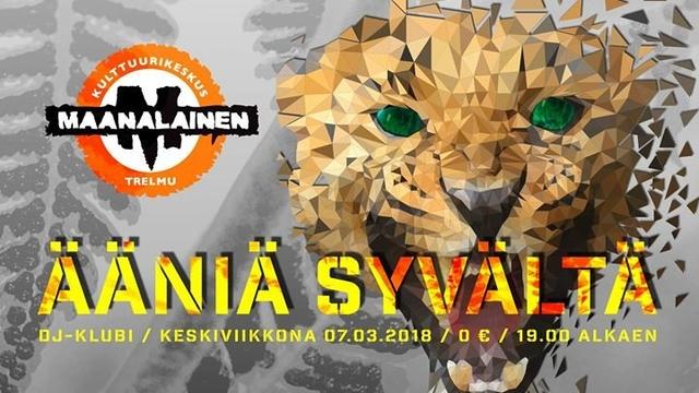 Party Flyer Ääniä Syvältä - TRELMU:n DJ-klubi #2 7 Mar '18, 19:00