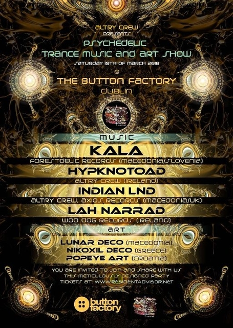 Psychedelic Trance Music and Art Show 10 Mar '18, 22:30