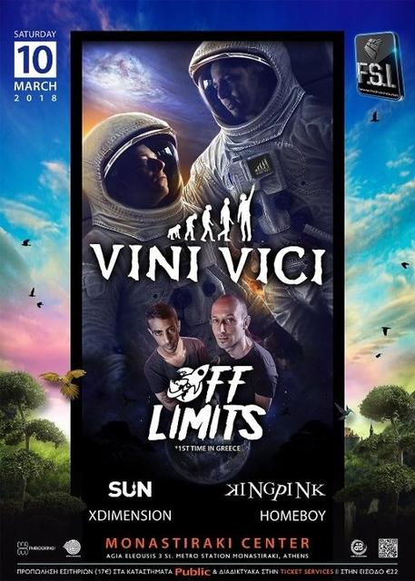 Party Flyer VINI VICI live in Athens! 10 Mar '18, 23:00