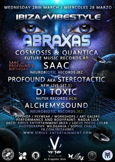 Abraxas (Cosmosis & Quantica) First Album Presentation 28 Mar '18, 20:00