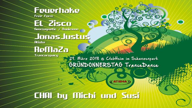 Atisha: Gründonnerstag Special - TranceDance 29 Mar '18, 22:00