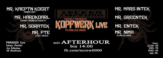 Party Flyer ZECKEnIMPFUNG pres. KOPFWERK LIVE 1 Apr '18, 22:30