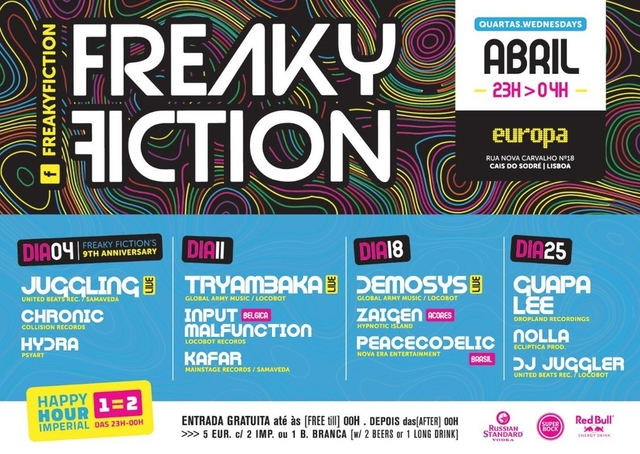 Party Flyer FREAKY FICTION 9º ANNIVERSARY 4 Apr '18, 23:00
