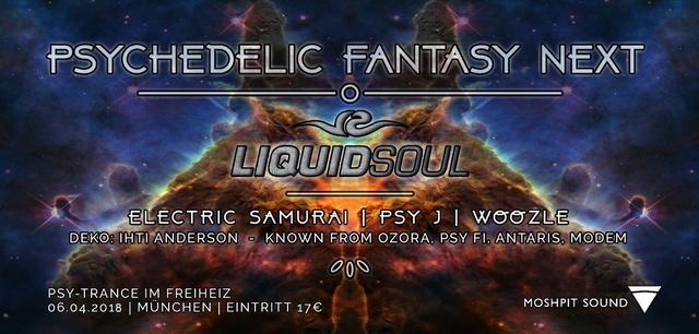 Party Flyer Psychedelic Fantasy NEXT 6 Apr '18, 22:30