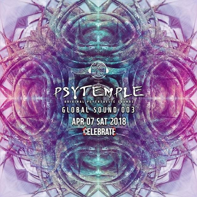 Party Flyer PsyTemple 싸이템플 Global Sound 003 7 Apr '18, 22:00