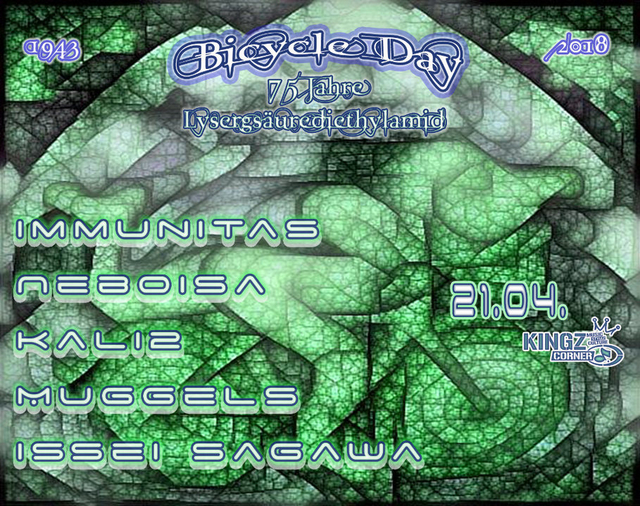 Party Flyer Bicycle Day 2018 21 Apr '18, 20:00