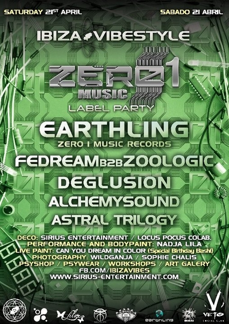 Zero 1 music Label Party ibiza Vibestyle 21 Apr '18, 20:00
