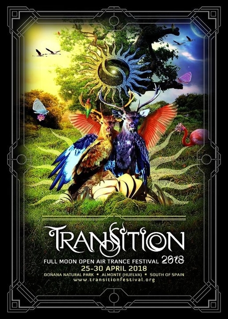 Party Flyer TRANSITION 2018 ::: Full Moon Open Air Trance Festival 25 Apr '18, 22:30
