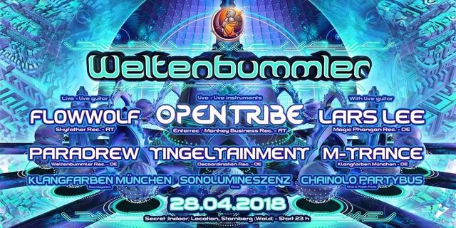 Party Flyer Weltenbummler with INSTRUMENTAL NIGHT 28 Apr '18, 23:00