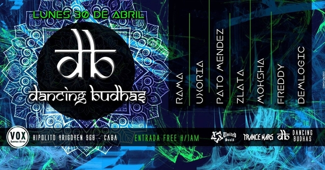Party Flyer Dancing Budhas 30 Apr '18, 23:30