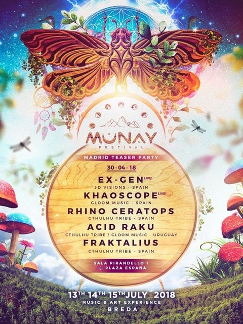 Party Flyer MUNAY FESTIVAL GOES TO MADRID 30 Apr '18, 23:30