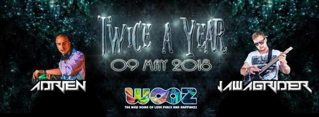Party Flyer Ƹ̵̡ӜƷ Twice a Year Ƹ̵̡ӜƷ w// Audiostatik / Jawgrinder / Adrien 9 May '18, 22:00