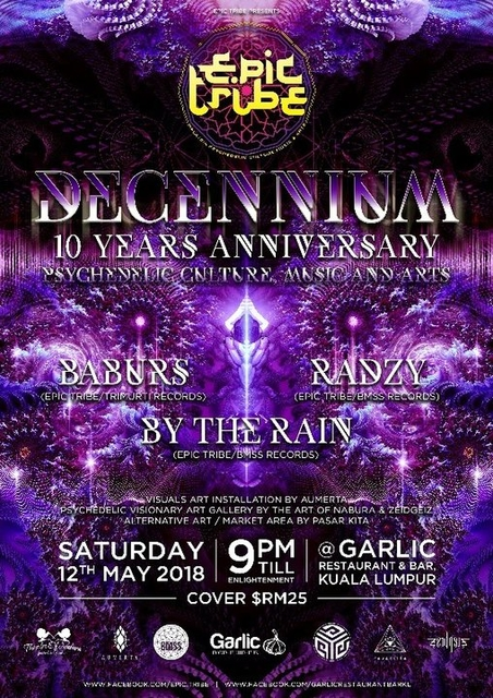 Party Flyer EPIC Tribe pres. Decennium - 10 Years Anniversary 12 May '18, 21:00