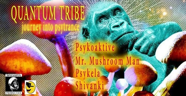 Party Flyer Quantum Tribe (journey into psytrance) 18 May '18, 23:00