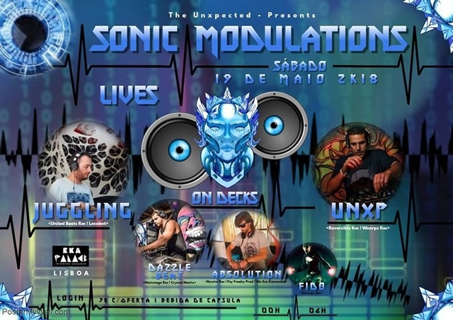 Party Flyer Sonic Modulations 19 May '18, 23:59