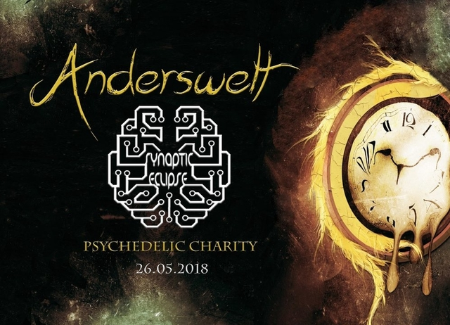 Party Flyer ॐ Anderswelt // Synaptic Eclipse // Psychedelic Charity ॐ 26 May '18, 23:00