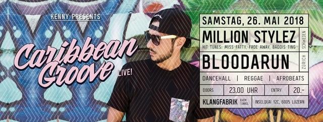 Party Flyer Caribbean Groove - Million Stylez 26 May '18, 23:00