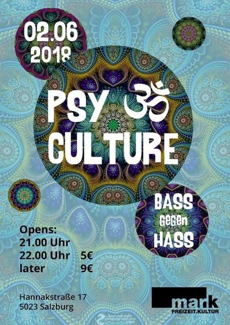 PsyCulture #5 ( Bass gegen Hass ) 2 Jun '18, 21:00