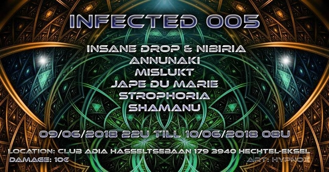 Party Flyer Infected 005 9 Jun '18, 22:00