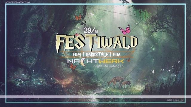 Party Flyer Festiwald - EDM, Hardstyle, Goa 29 Jun '18, 22:00