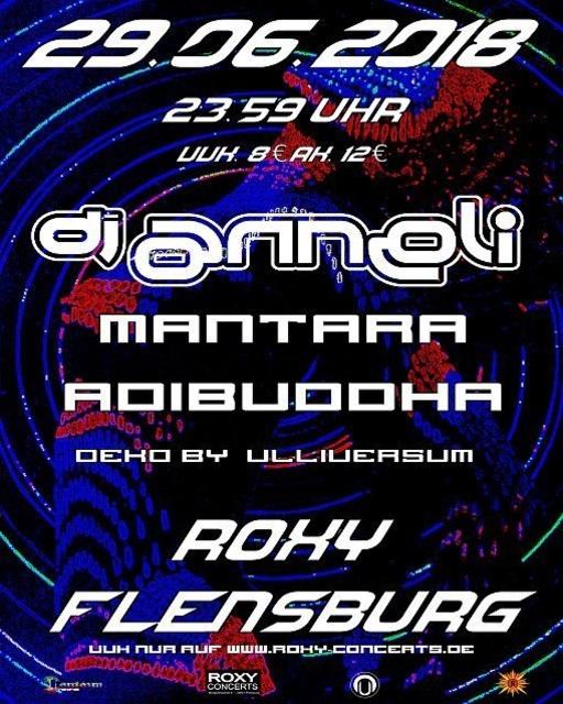 Party Flyer Goa mit Djane Anneli, Mantara und Adibuddha 29 Jun '18, 23:30