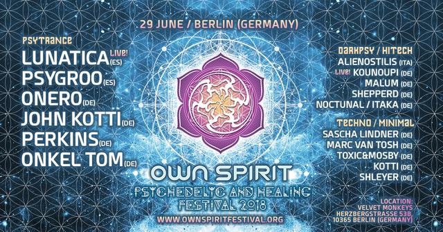 Party Flyer Own Spirit Festival Teaser Berlin 29 Jun '18, 23:00