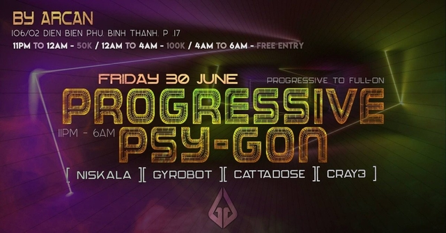 Party Flyer Progressive Psy-Gon Vol. 2 30 Jun '18, 23:00