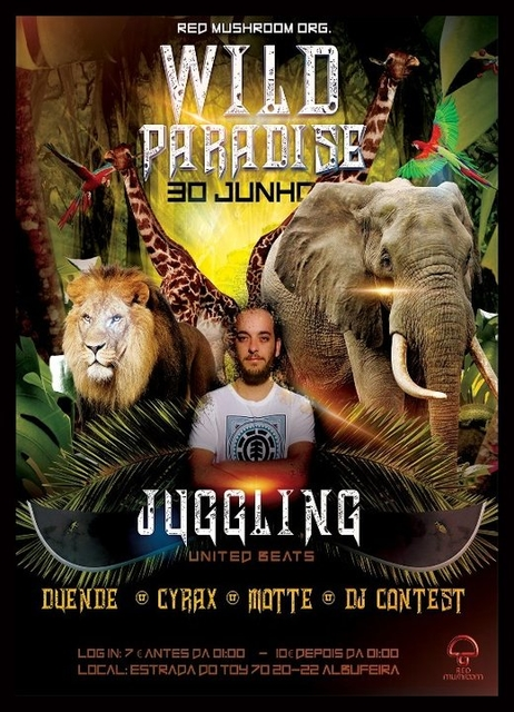 Party Flyer WILD PARADISE BY RED MUSHROOM 30 Jun '18, 23:00