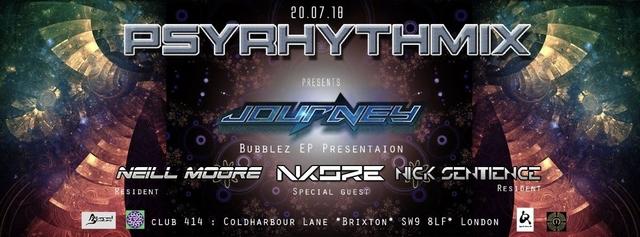 Psyrhythmix Pres. Journey (aka Jay Om): Bubblez EP Presentation 20 Jul '18, 23:00