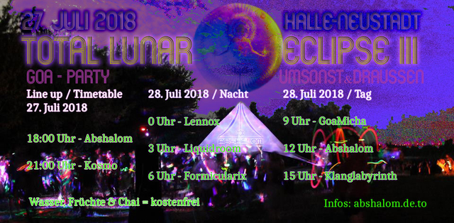 Total Lunar Eclipse III - umsonst & draussen 27 Jul '18, 18:00