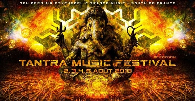 Party Flyer Tantra Music Festival 5th Edition - 72H Open Air 2 Aug '18, 20:00
