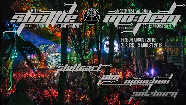 Party Flyer Shuttle to MoDem Festival 4 Aug '18, 21:00