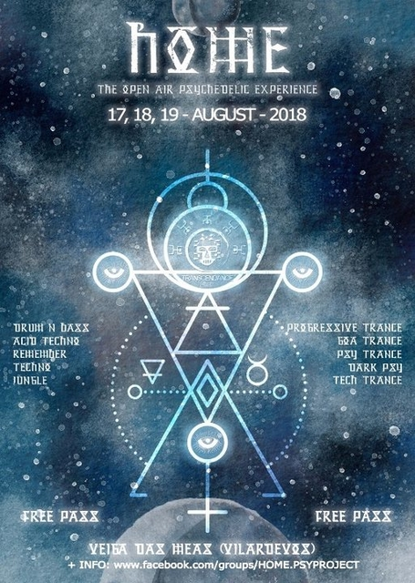 Party Flyer H.O.M.E 4.0 ( Open Air Psychedelic Experience) 17 Aug '18, 19:00