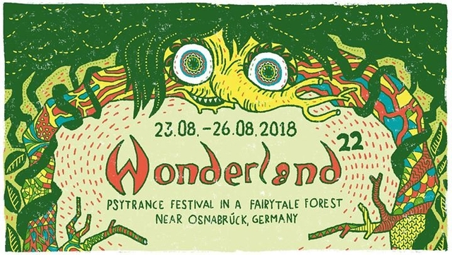 Party Flyer Waldfrieden Wonderland Festival 2018 23 Aug '18, 14:00