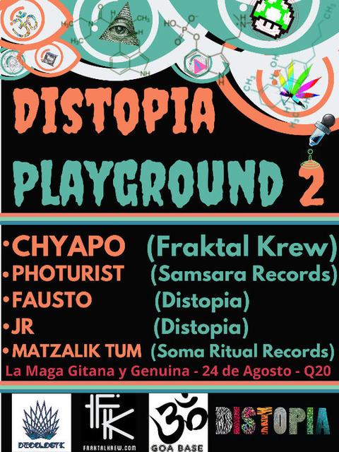 Distopia Playground #2 24 Aug '18, 21:00