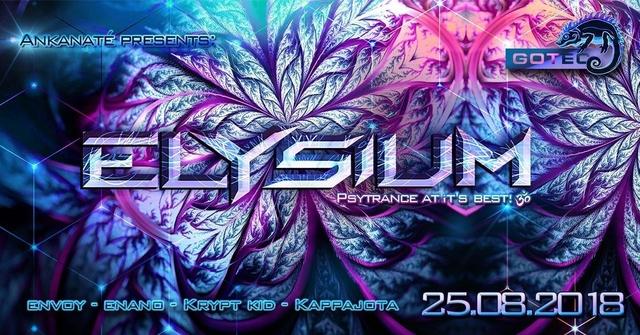 Party Flyer ๑ Ankanaté presents: Elysium GOA ๑ 25 Aug '18, 22:00