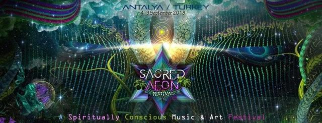 Party Flyer Sacred Aeon Festival 2018 4 Sep '18, 22:00