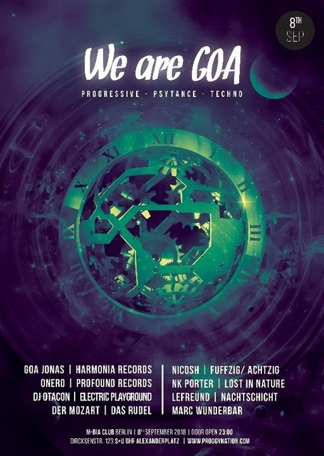 Party Flyer We are GOA | 5€ Summer-Edition 8 Sep '18, 23:00