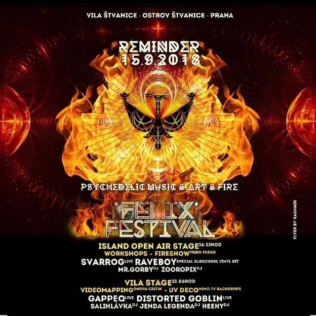 Party Flyer FENIX FESTIVAL REMINDER 15 Sep '18, 15:00