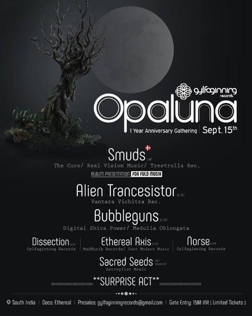 Opaluna l Gylfaginning Records 1 Year Anniversary Gathering: 2018 15 Sep '18, 22:00