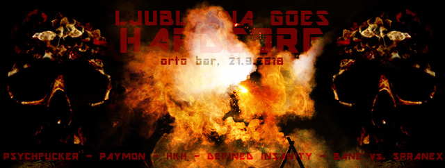 Party Flyer Ljubljana goes Hardcore 21 Sep '18, 22:00