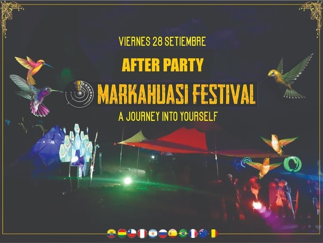Party Flyer AFTER Markahuasi Festival 28 Sep '18, 22:00