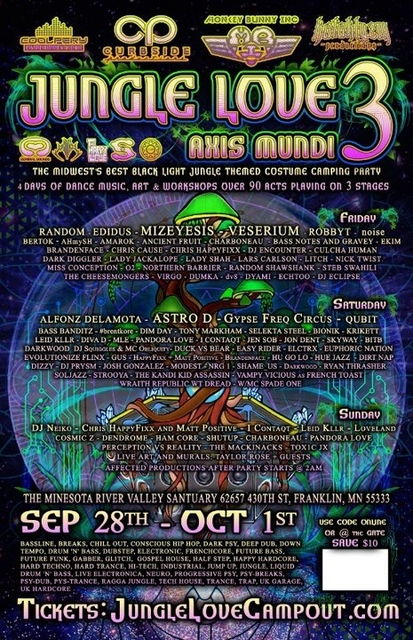 Party Flyer Jungle Love 3: Axis Mundi 28 Sep '18, 12:00