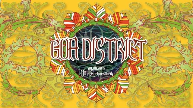 Party Flyer GOA DISTRICT 2018 ; HATIKWA / SASHA / YONS / GANDAALV 29 Sep '18, 23:00