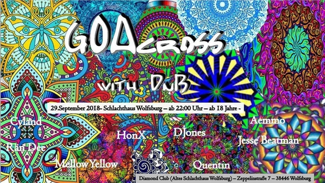 Party Flyer GOAcross with DnB 29 Sep '18, 22:00