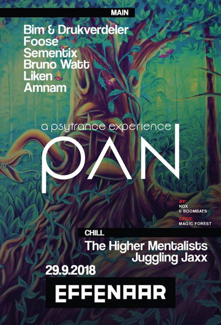Party Flyer Pan: psytrance experience 29 Sep '18, 22:00