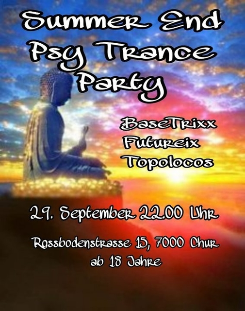 Party Flyer Summer End Psy-Trance Party 29 Sep '18, 22:00