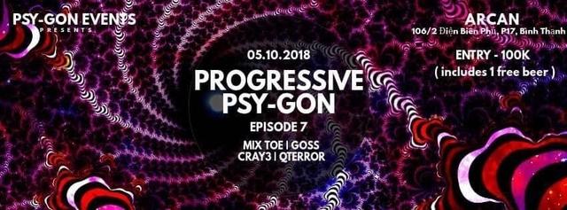Party Flyer Progressive Psy-Gon Episode 7 5 Oct '18, 22:00