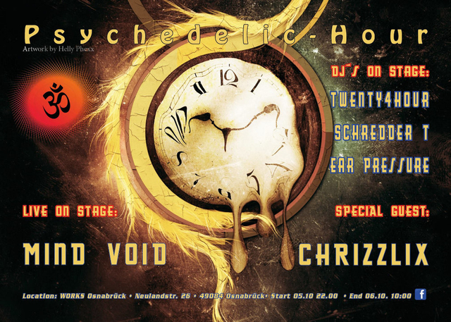 Party Flyer Psychedelic-Hour 5 Oct '18, 23:00