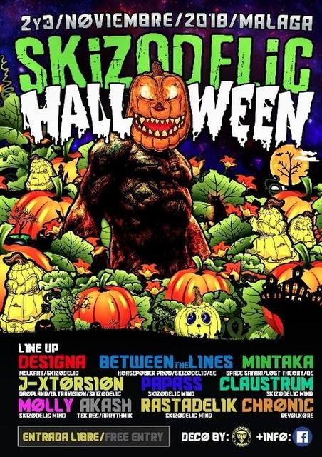 Party Flyer PsyHallowen By Skizodelic Mind 31 Oct '18, 22:00